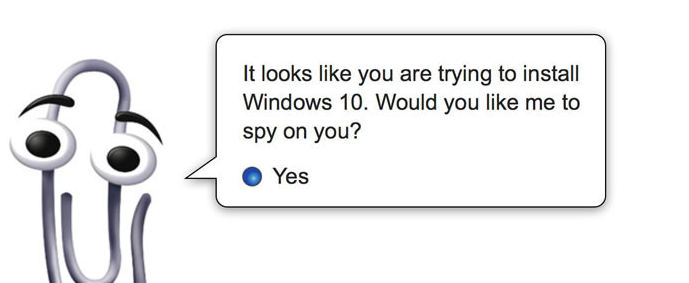 Windows 10 spies on you by default